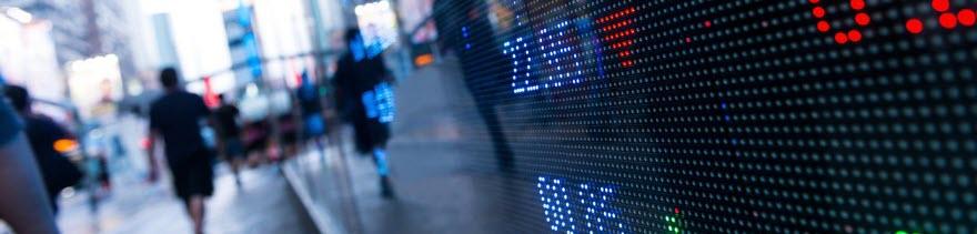 Digital Stock Market Chart Display